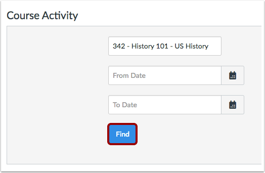 Find Course Activity