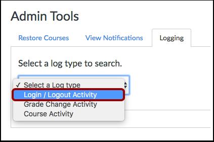 Select Log Type