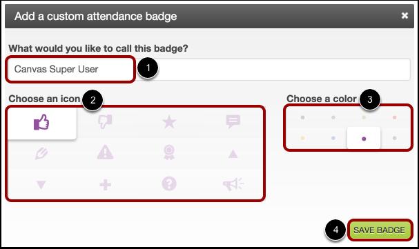 Add Custom Attendance Badge