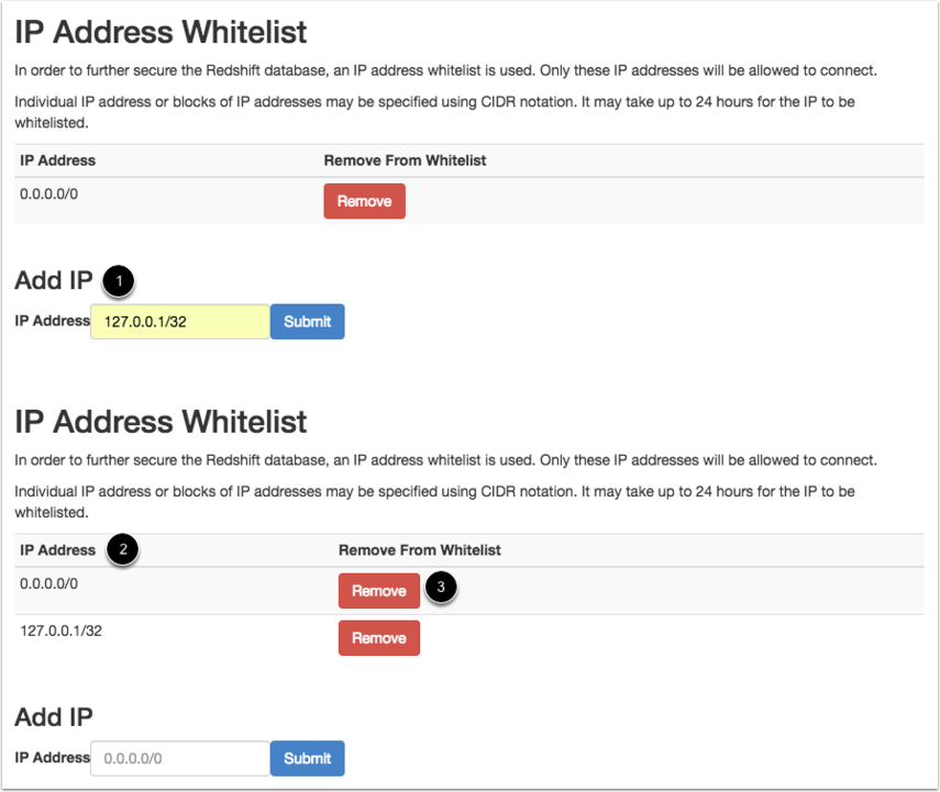 View IP Address Whitelist