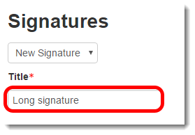 Type a name for the signature.