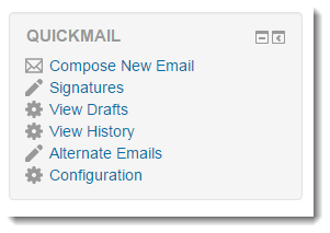 Scroll down to the Quickmail block.