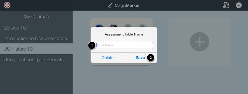 Create Table Name