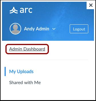Open Admin Dashboard