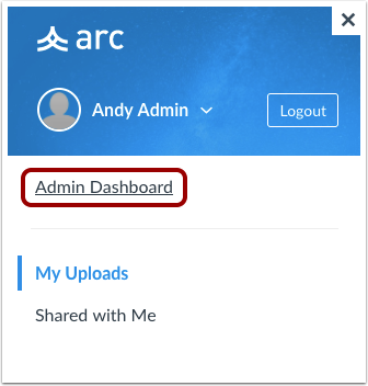 Open Admin Dashboard