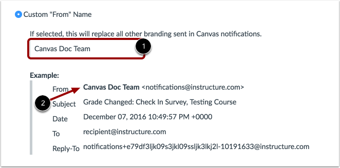 "Change Custom ""From"" Name"