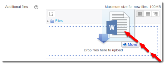 Drag and drop a file if you want to attach a file.