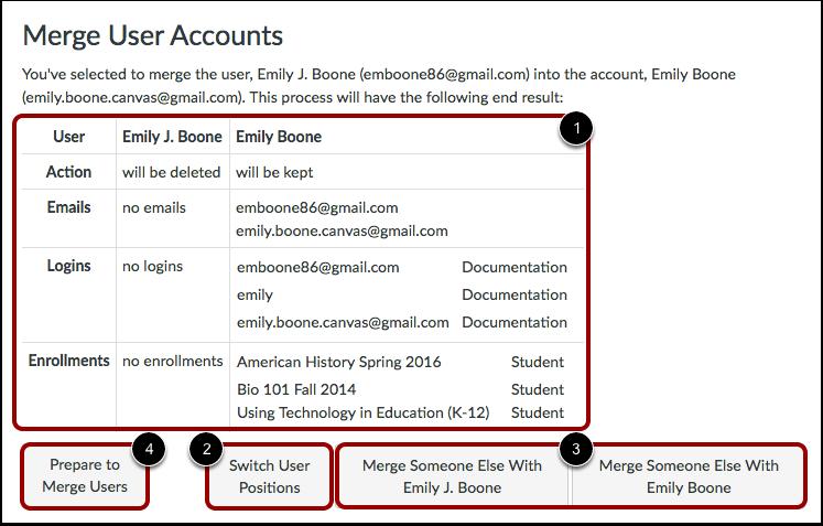 Merge User Accounts