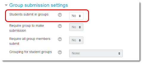Students submit in groups.