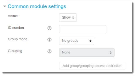 Common module settings.