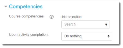 Competencies settings.
