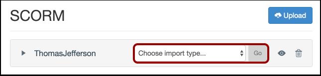 Choose Import Type