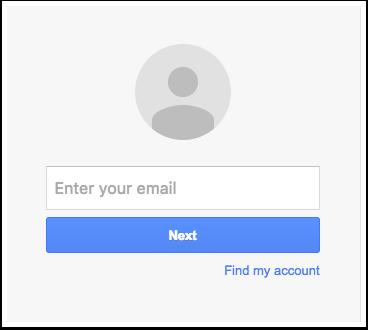 Iniciar sesión en su cuenta de Google