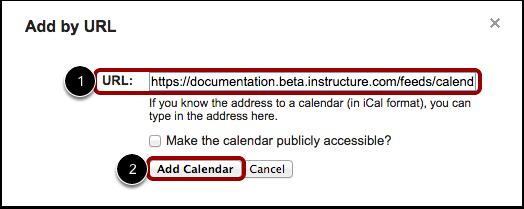 Agregar calendario por URL
