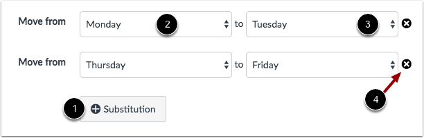 Create Substitution Dates