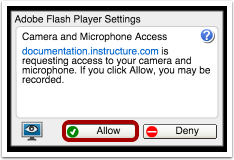 how to allow flash player on websites