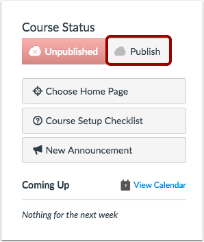 Publish Course