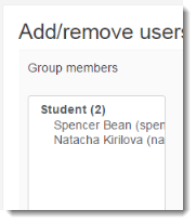 Those users are now in that particular group.