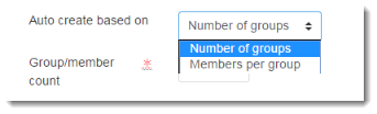 Select Number of groups from the Auto create based on drop down menu.