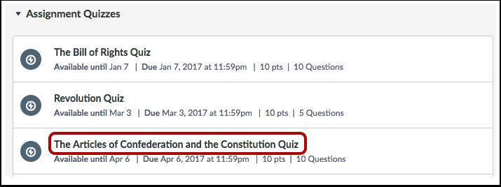 Click Quiz Title