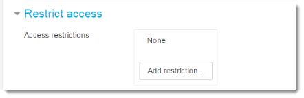 Set Restrict access settings if desired.