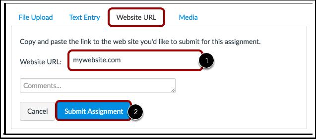 Enviar a URL de um Website