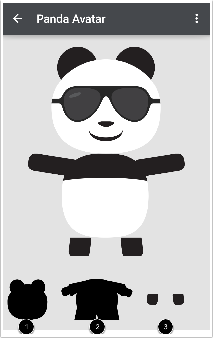 Customize Panda Avatar