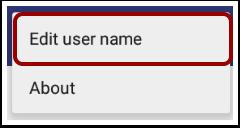 Edit User Name