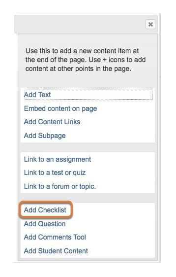 Click Add Checklist.