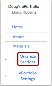 Organize Sections