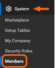 System > Members