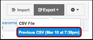 Export current scores