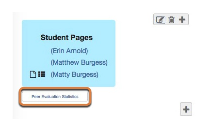 Click Peer Evaluation Statistics to view evaluation statistics.