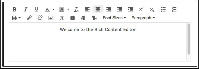 Abrir Editor de Rich Content