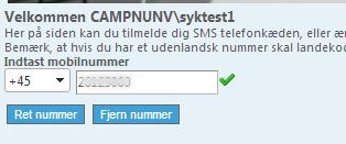 Du er nu tilmeldt SMS-servicen