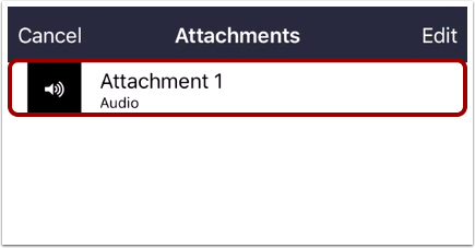 Open Existing Attachments