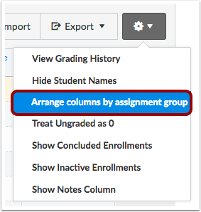Arrange Columns by Assignment Group