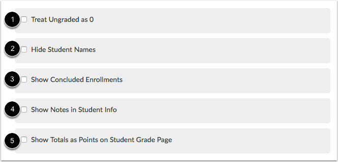 Select Gradebook Settings