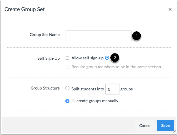 Allow Self Sign-up