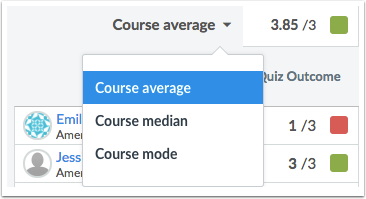 View Course Statistics