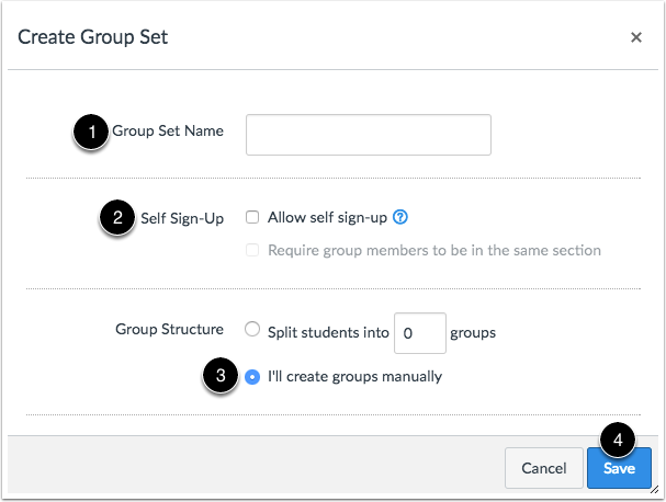 Create Groups Manually