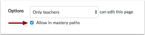 Allow for MasteryPaths