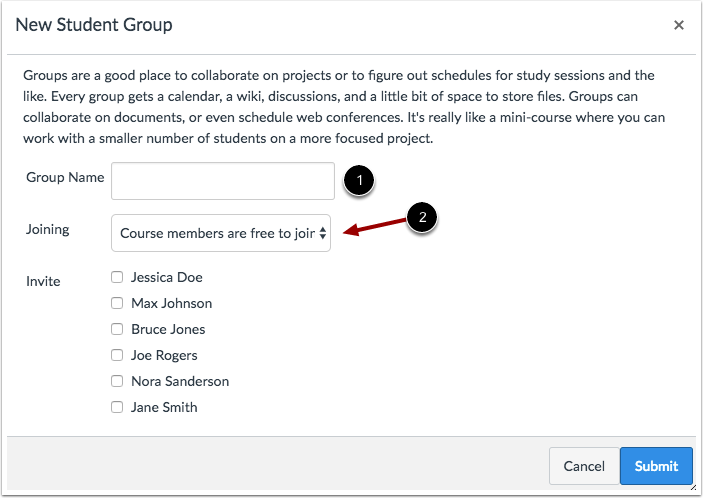Choose Group Membership Option