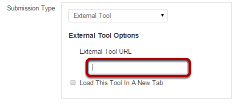 Click in the External Tool URL field.