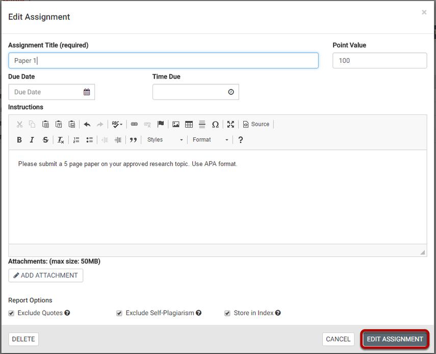Make your settings selections and save.