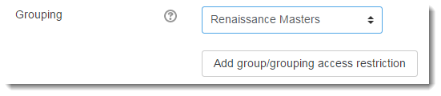 Add group/grouping access restriction.