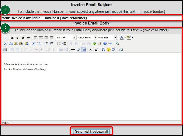 Customize Invoice
