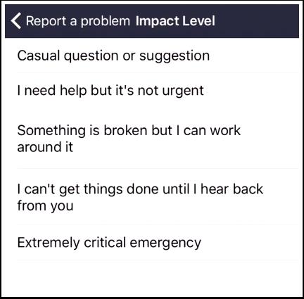 Select Impact Level