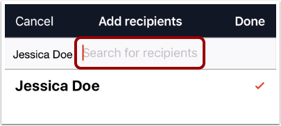 Add Multiple Recipients