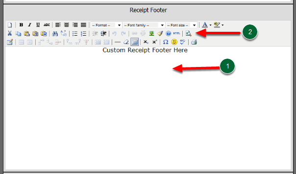 Creating your Receipt Footer